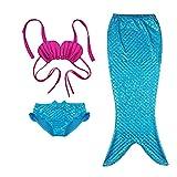 Cute 3 Pcs Mermaid Princess Mermaid Tail Halloween Costume for Little Girls