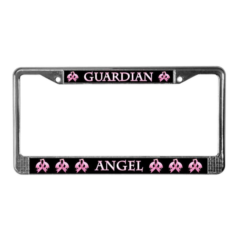Aluminum License Plate Guardian Angel CafePress Vanity Tag Front License Plate