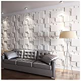 Art3d 3D Wall Panels for Interior Wall Decoration Brick Design Pack of 6 Tiles 32 Sq Ft (Plant Fiber)