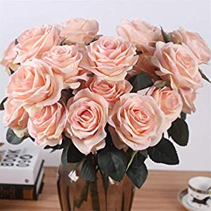 Rvbyjfg Artificial Rose Bouquet Fake Flower Daisy Wedding Decoration Party Accessories Pink 5