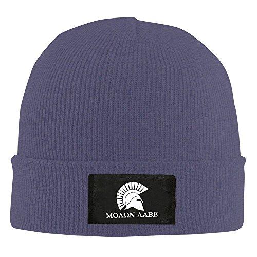 Molon Labe casco Beanie sombrero para hombres y mujeres negro Marino