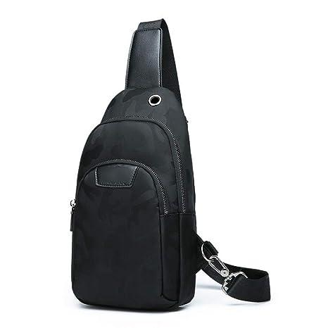a6304faa009 Amazon.com : LXIANGP Men's Shoulder Bag Chest Bag Casual Front ...