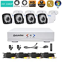 Eyedea H 1080P 4 CH Motion Detection Remote Phone View DVR 2.0MP Bullet Outdoor Night Vision Video Surveillance CCTV Security Camera System