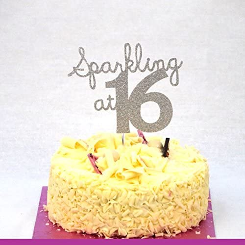 Terrific Lissielou Sparkling At 16 Cake Topper 16Th Birthday Cake Topper Funny Birthday Cards Online Aboleapandamsfinfo