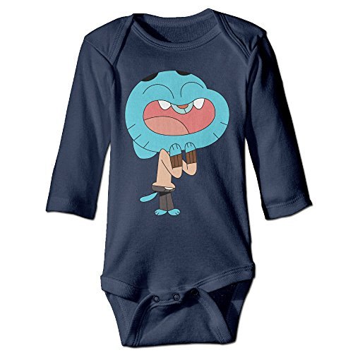 HYRONE The Amazing World Of Gumball Baby Bodysuit Long Sleeve JumpSuit Romper Size 24 Months Navy