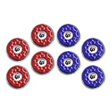 TORPSPORTS(Dia.53mm 2-1/8'' Shuffleboard Pucks, Set of 8 Blue/Red