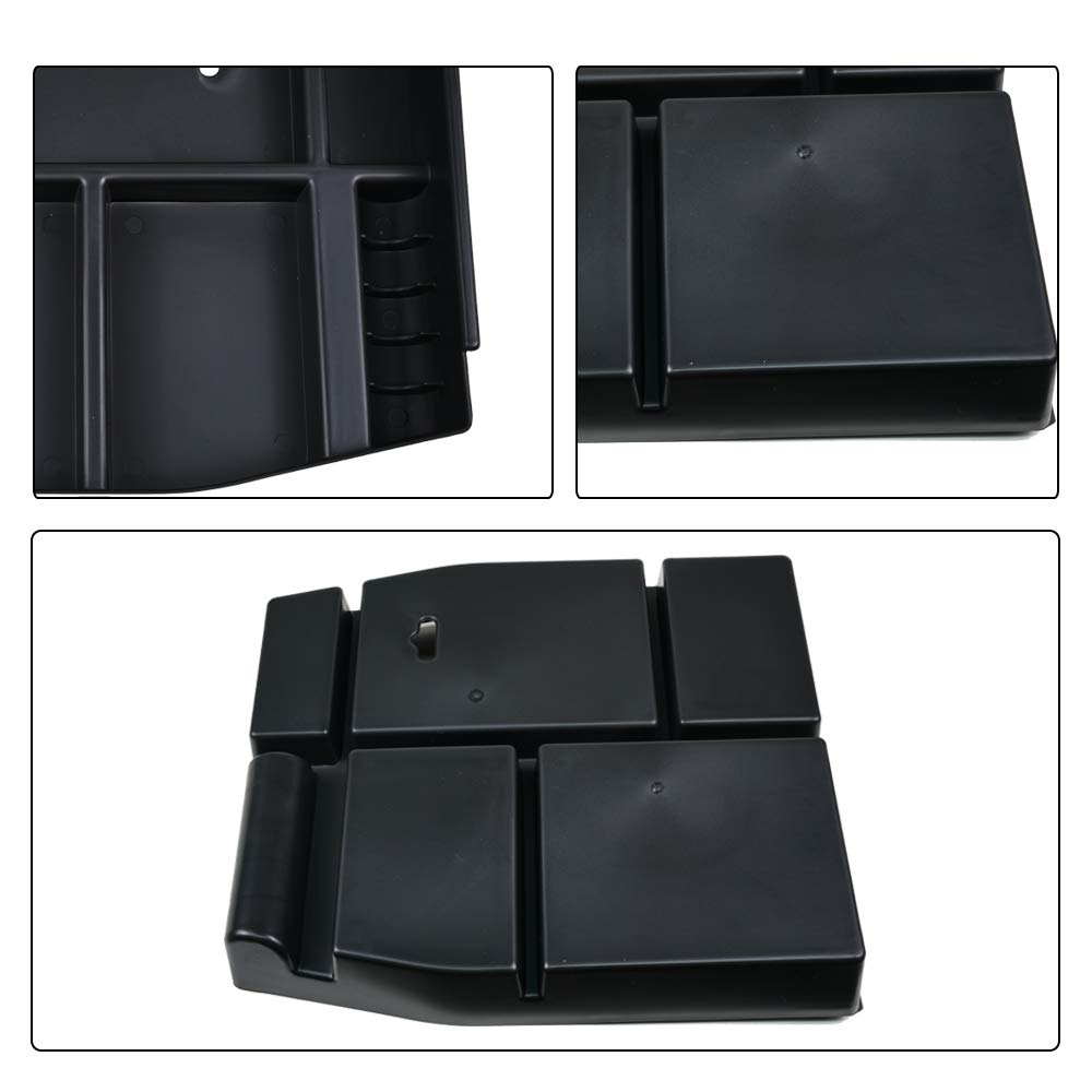 Center Console Armrest Storage Box Insert Organizer Tray for Ford F150 2015 2016 2017 4XBEAM