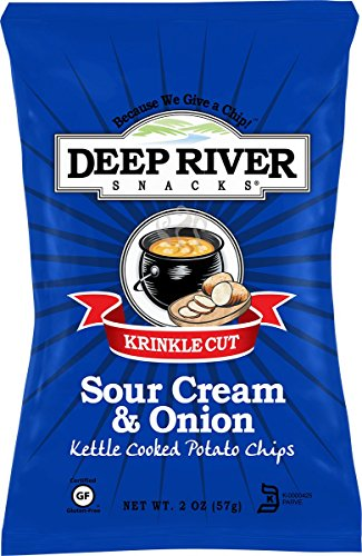 (Deep River Kettle Sour Cream & Onion Krinkle Cut Potato Chips, 2 Ounce (Pack of 24))