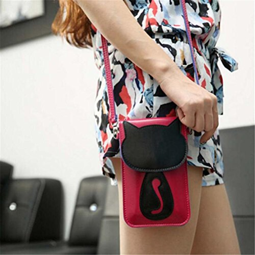 Cute Phone Hot Leather Body Cross Bluester Shoulder Bag Pink Bag Cartoon Purse Coin Hw1qx6f
