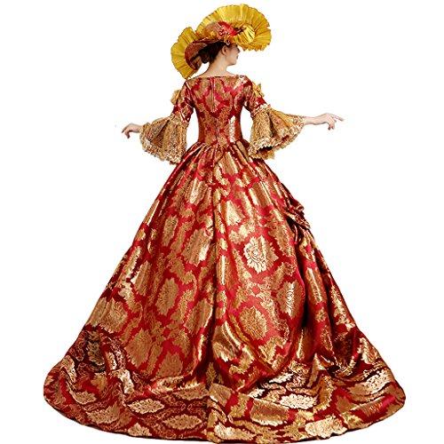 Filles Robe Femmes Victorien Royal Palais Reine Princess Pour 3Aqj45RL