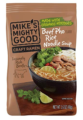 Mikes Mighty Good Beef Pho Rice Noodle Soup, 1.6 Ounce -- 8 per case.