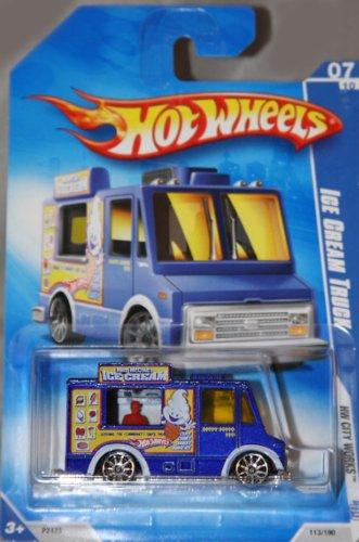 (Hot Wheels 2009-113 Ice Cream Truck Red Line HW City Works 5-Spoke PURPLE 1:64 Scale 1:64 Scale)