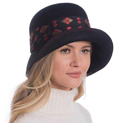 Eric Javits Luxury Fashion Designer Women's Headwear Hat - Drew - Black by Eric Javits