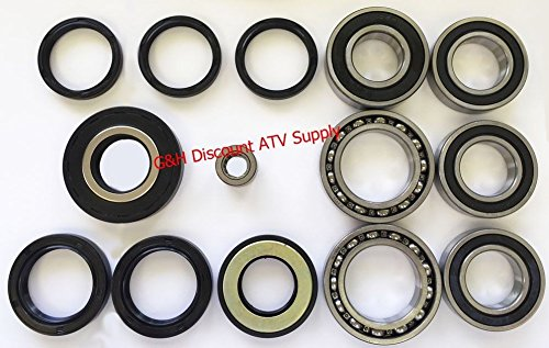 (COMPLETE Rear Differential & Axle Bearing Seal Kit for 1997-2014 Honda TRX 250 Recon)