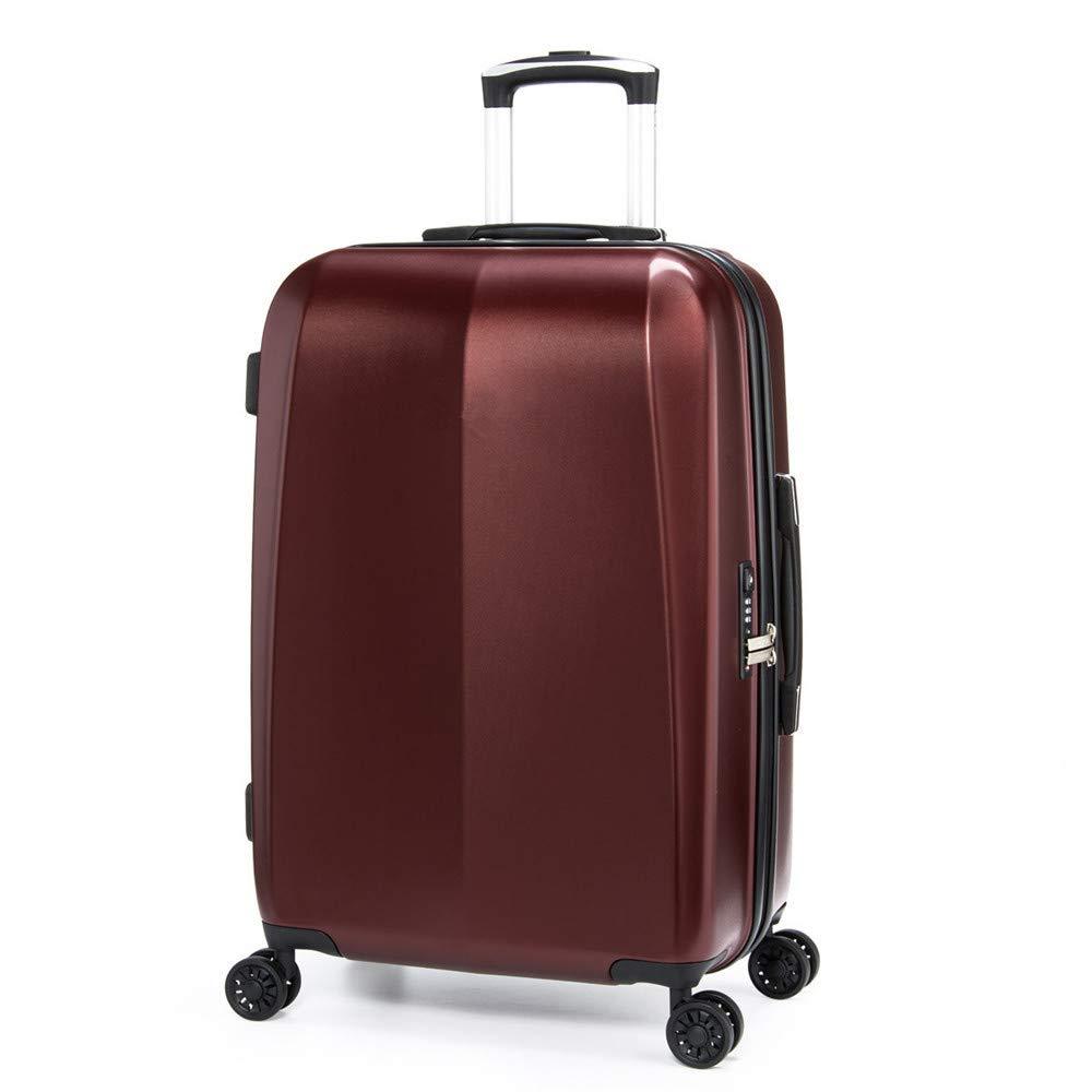 旅行用品荷物スーツケーストロリーケース プレミアム回転ユニバーサルホイールプルロッドボックス学生トランク男性と女性の搭乗箱ハードボックスコードボックスビジネス24インチスーツケース。 B07SL24KGB