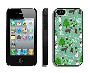 Custom-ized Diy For Iphone 4/4s Case Cover Protective Skin Case Merry Christmas Diy For Iphone 4/4s Case Cover Case 18 Black