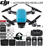 DJI Spark Portable Mini Drone Quadcopter Fly More Combo Virtual Reality Experience VR Ultimate Bundle (Sky Blue)
