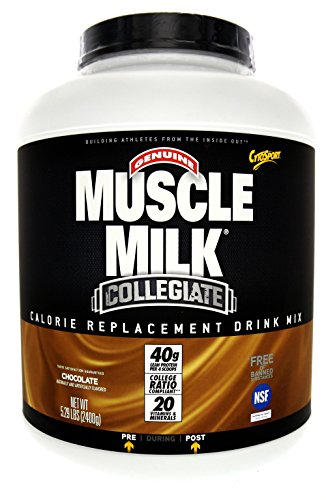 Muscle Milk Collegiate Protein Powder, Chocolate, 20g Protein, 5.29 Pound ( Pack May Vary )