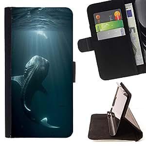 - Queen Pattern FOR Samsung Galaxy S6 EDGE /La identificaci????n del cr????dito ranuras para tarjetas tir????n de la caja Cartera de cuero cubie - fishing ocean fish blue nature d