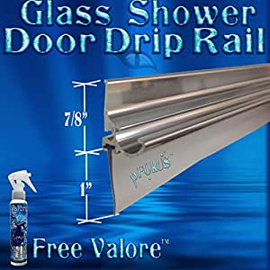 36 Quot Chrome Framed Glass Shower Door Drip Rail Kit Comes