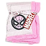 Spiderman-Super-Soft-MinkSherpa-Girls-Baby-Blanket-30-inch-x-30-inch-Pink