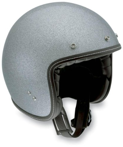 AGV RP60 Open Face Motorcycle Helmet Silver Metal Flake Extra Small XS