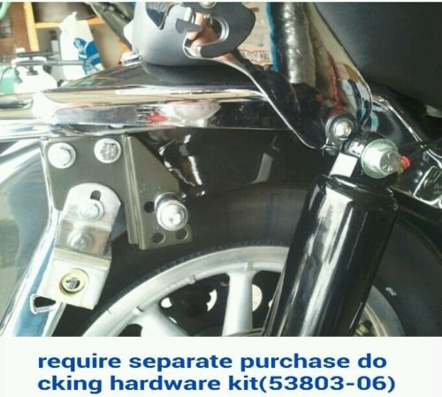 Wisdom Motorcycle Backrest sissy bar and flat luggage rack for Harley Davidson Touring Models 1997-2008 by Wisdom Motorcycle (Image #7)