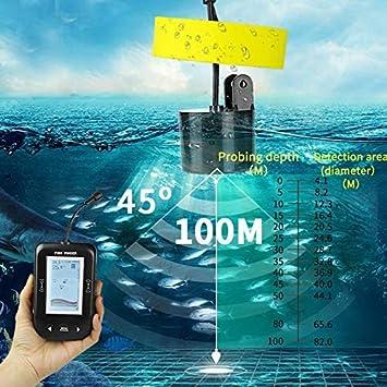 YHKQS-KQS Deeper Sea Fishing Radar Equipment Fish Finder 45 Degree Sonar Sensor Alarm System