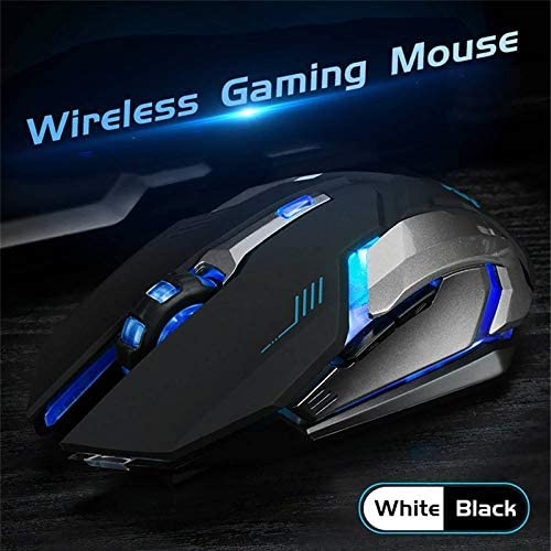 RONSHIN Like for LED Wireless Optical Gaming Mouse Rechargeable X7 High Resolution Mouse Black