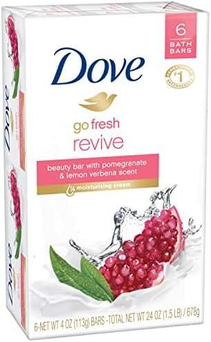 Dove go fresh Beauty Bar, Pomegranate and Lemon Verbena 4 oz, 6 Bar