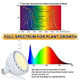45W Daylight LED Grow Light Bulb, 400W Equivalent