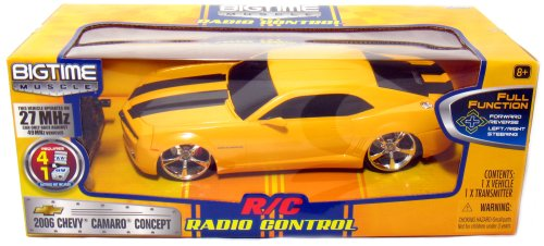 Jada BIGTIME Muscle: Radio Control 2006 Chevy Camaro Concept, Yellow 1/16 (2006 Chevy Camaro Concept Car)