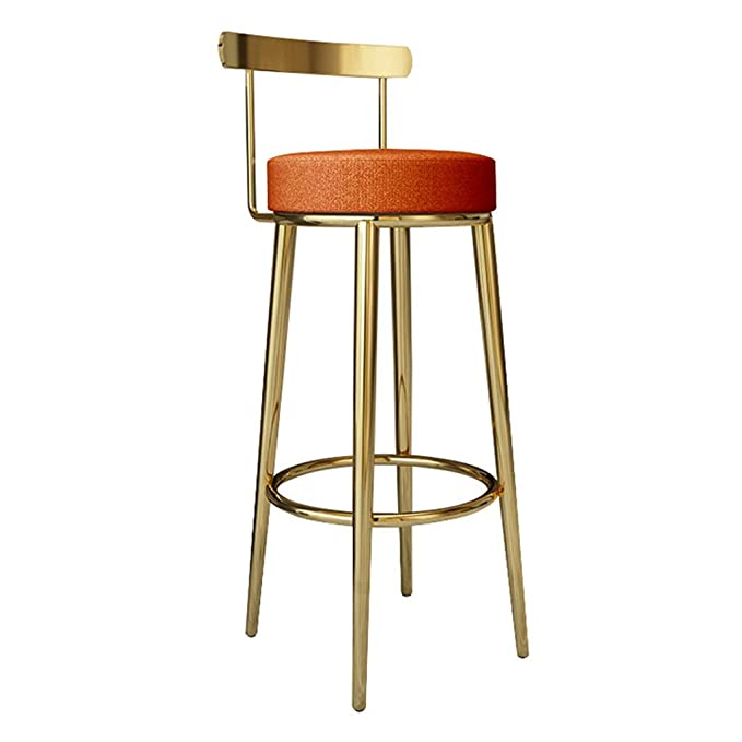 Amazon.com: QQXX Bar Stool Pub Height Footrest Breakfast ...