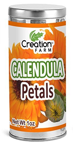 Creation Farm Calendula Tea, Herb Beverage Flower Petals for Tisane Infusion for Teapot or Strainer 1 oz Tin Canister (Dried Flowers Herbs)