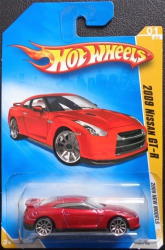 Hot Wheels 2009 New Models Red 2009 Nissan GT-R 1:64 Scale