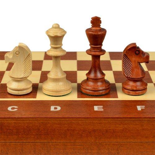- Wegiel Tournament No. 4 Staunton European Wood Chess Set, 16 Inches