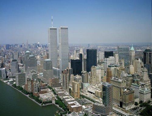 Photo: Aerial View, New York City, Twin Towers, World Trade Center, Skyline, Highsmith, 3