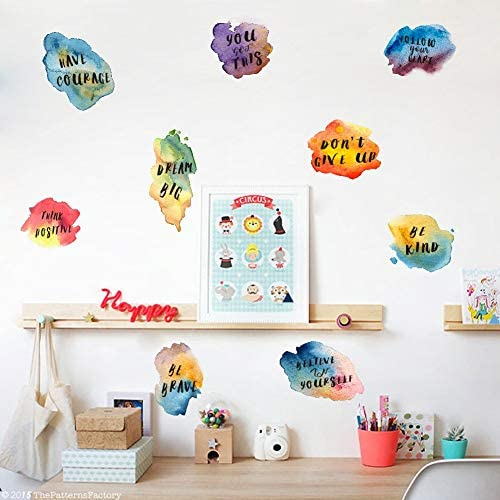 IARTTOP Watercolor Inspirational Decoration%EF%BC%8CColorful Motivational product image