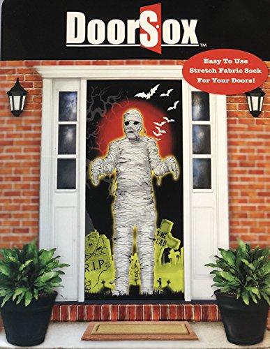 door sox Mummy Halloween Sign -