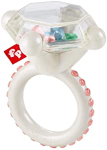 Fisher-Price Rock 'n Rattle Teether Ring, Baby Rattle and Teething Toy