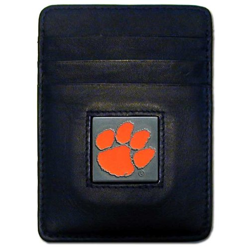 NCAA Clemson Tigers Leather Money Clip/Cardholder Wallet