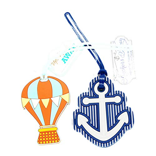 ShineSnow Cute Luggage Tags Anchor Travel Bag ID Tag Set Baggage Suitcase Label