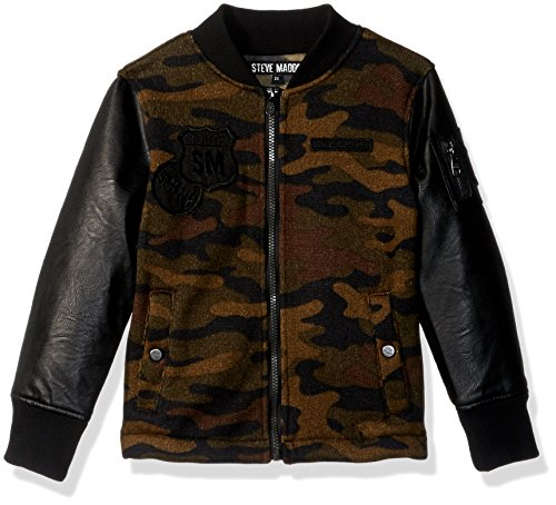 Steve Madden Big Girls' Fashion Outerwear Jacket (More Styles Available), Sweater Fleece/Camo Print, 10/12