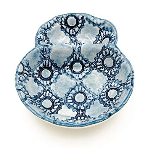 Hand-painted Traditional Portuguese Ceramic Olive Dish (Blue)