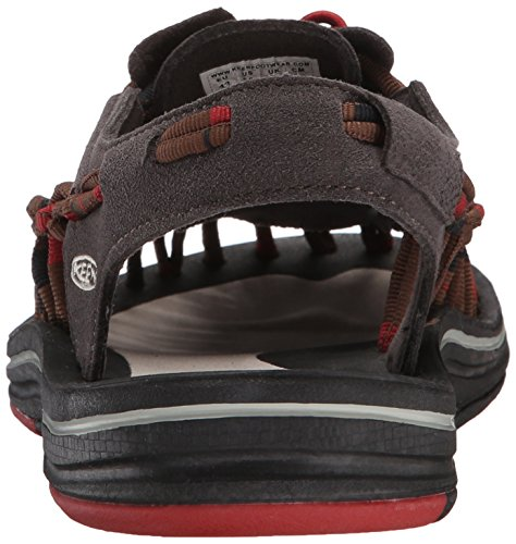 Keen Uneek Stripes - Zapatillas de senderismo Hombre, Multicolor - Mehrfarbig (Red Dahlia/Raya), 40,5