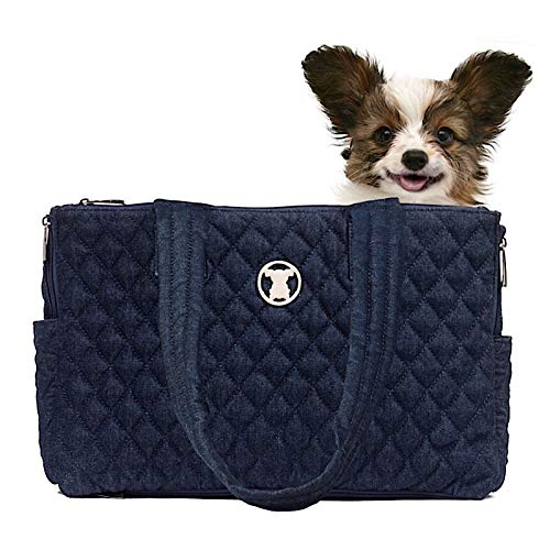 (MISO PUP Shell Tote for use Interchangeable Base Pet Carrier (Shell Tote) (Shell Tote ONLY for USE with Base PET Carrier, Quilted Denim Blue))