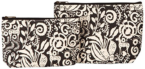 UPC 813309024802, Rock Flower Paper 2 Set Cosmetic Pouch - Woodland Black