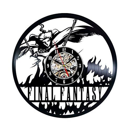 Vinyl Record Final Scratch (Famous Final Fantasy Vinyl Wall Clock Gift Home Décor)