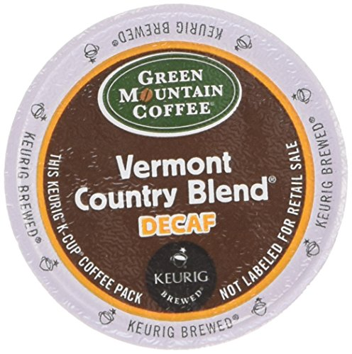 K-cups Country Blend Vermont (Green Mountain Coffee Vermont Country Blend Decaf, K-Cup Portion Pack for Keurig Brewers 24-Count)
