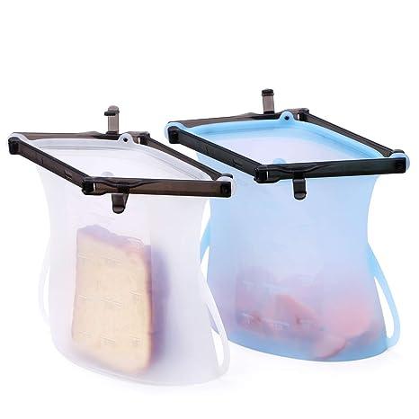 Amazon.com: Bolsas de sándwich reutilizables Valourgo a ...